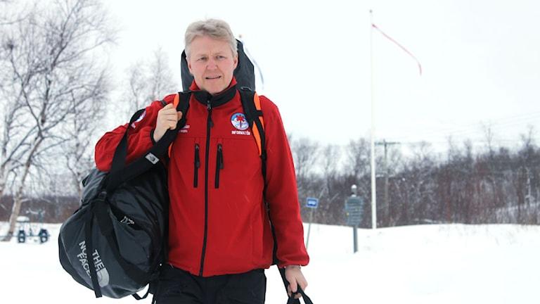 Per-Olov Wikberg är samordnare vid Fjällsäkerhetsrådet. Foto: Alexander Linder/ Sveriges Radio.