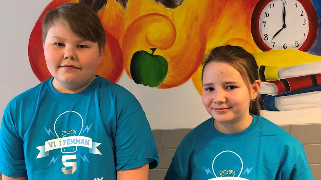 Vi i femman 2021: Pitholmsskolan Anna-Lotta Lundgren och Liam Larsson Hedman.
