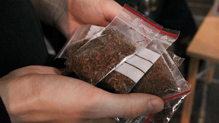 Nätdroger som Spice är populär bland en del ungdomar. Foto: Alexander Linder/ Sveriges Radio.