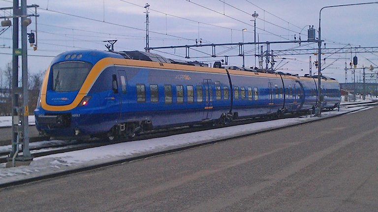 Norrtåg på järnvägsstationen i Kiruna. Foto: Anneli Lindbäck/Sveriges Radio
