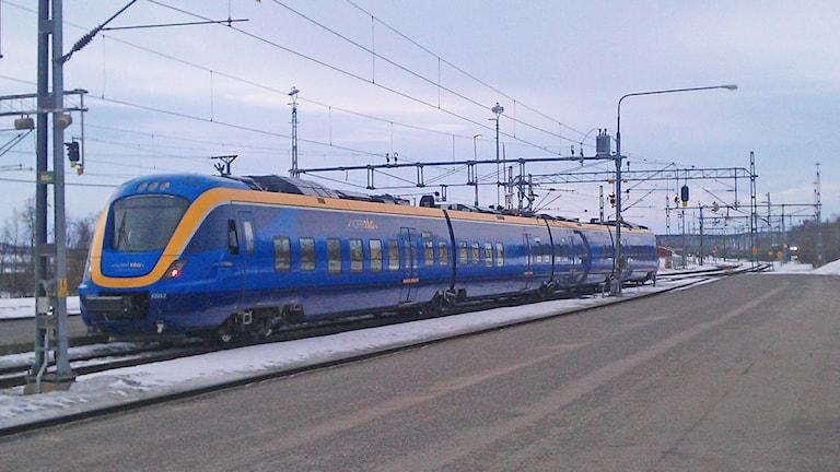 Norrtåg på järnvägsstationen i Kiruna. Foto:Anneli Lindbäck/Sveriges Radio