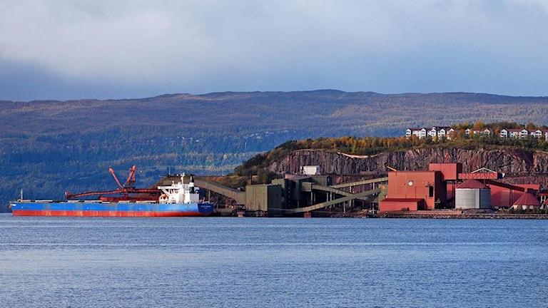 Malmhamnen i Narvik. Foto: Magdalena Martinsson/Sveriges Radio