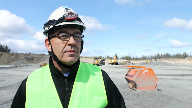 Per-Erik Lindvall, direktör för teknik och affärsutveckling i LKAB. Foto: Alexander Linder/ Sveriges Radio.