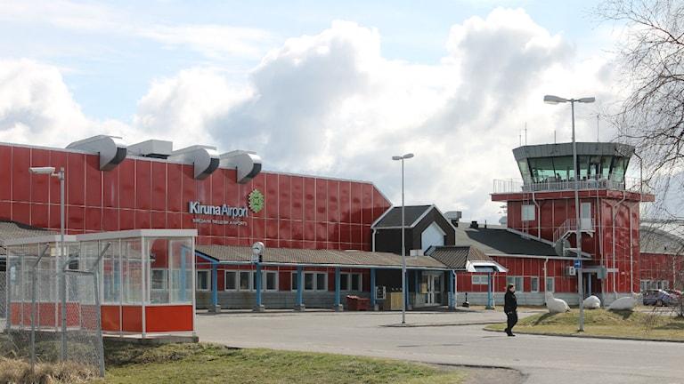 Kiruna flygplats. Foto: Alexander Linder/Sveriges Radio.