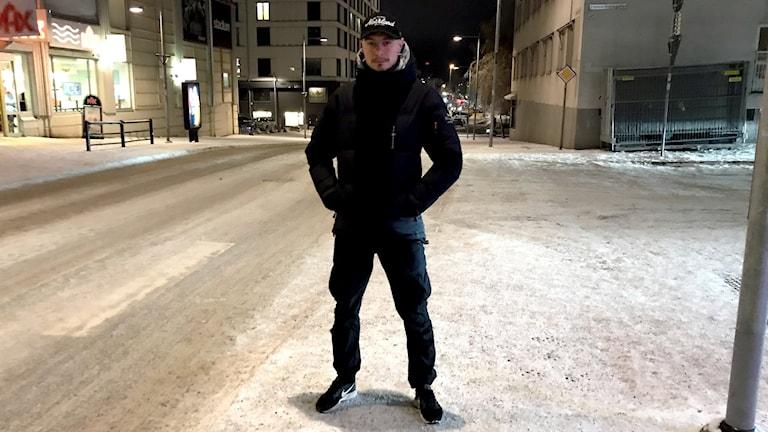 Pär Sandsten, narkotikaspanare i Luleå, är en av de poliser som gjort heroinbeslagen.