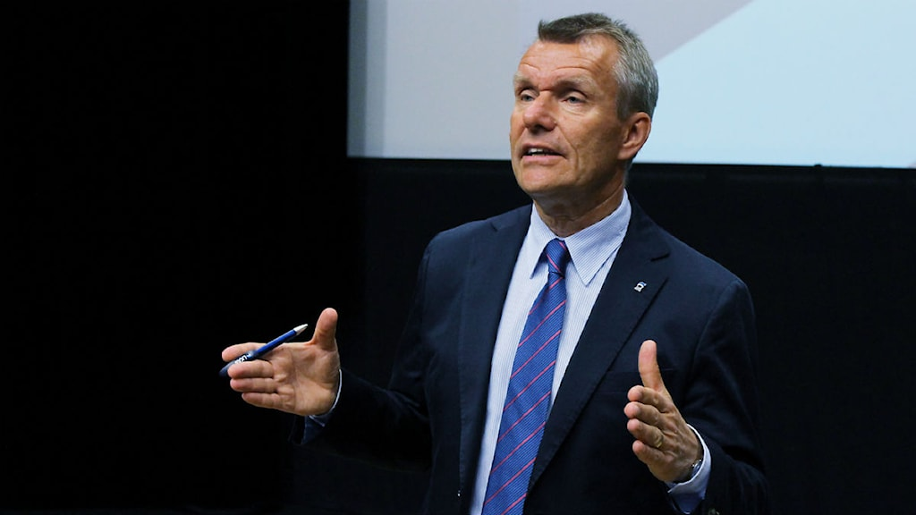 Lars-Eric Aaro, LKAB:s verkställande direktör. Foto: Alexander Linder/ Sveriges Radio.