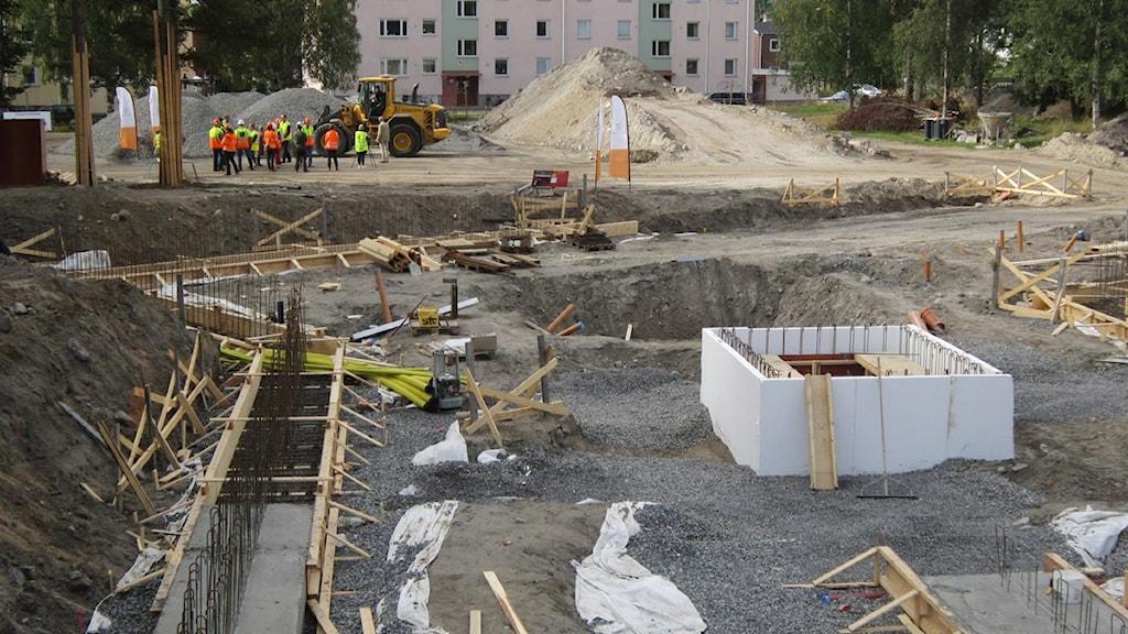 Byggarbetsplats. Foto beatrice Karlsson/Sveriges Radio