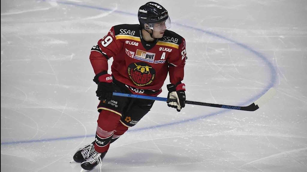 Luleå Hockeys Erik Gustafsson.