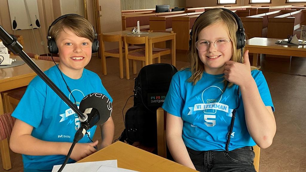 Vi i femman 2021: Klöverträskskolan med Sigge Tiger och Linnea Sköld