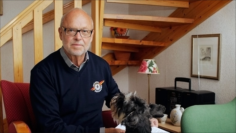 Curt Johansson, ordförande i Luleå Hockey. Foto Stig-Arne Nordström/ Sveriges Radio.