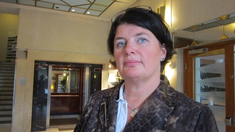 Heike Erkers, ordförande för akademikerförbundet SSR.Foto: Sveriges Radio Norrbotten.
