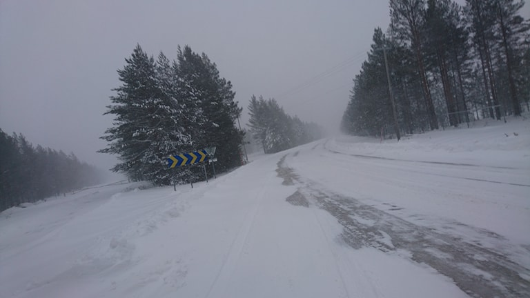 Vinterväglag. Foto: Viktor Lundmark/Sveriges Radio