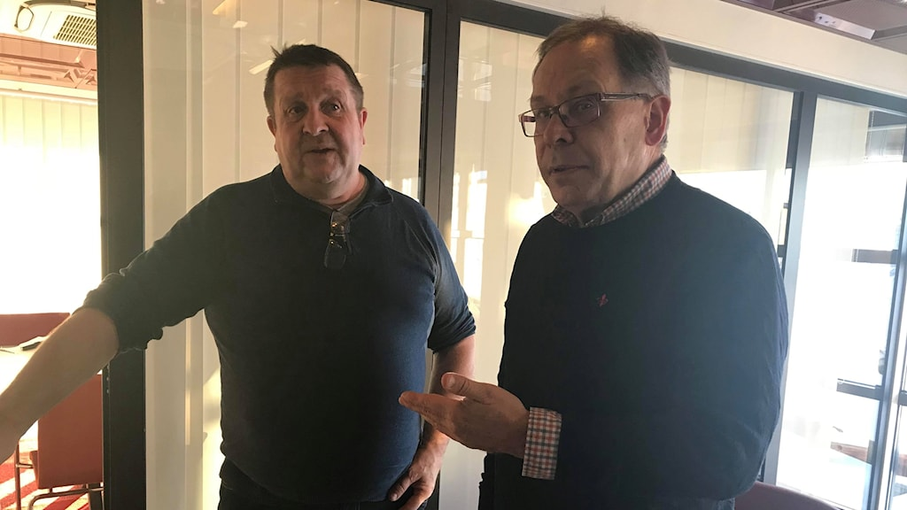 Övertorneås kommunalråd Tomas Mörtberg (C) och näringslivsstrategen Stig Kerttu.