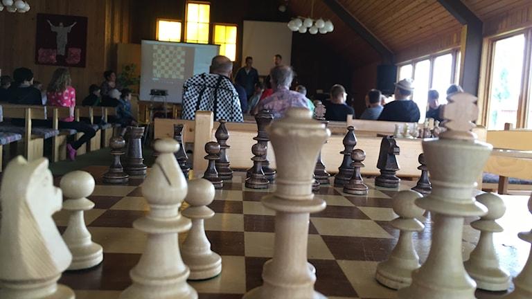 Schackläger i Sunderbyn.