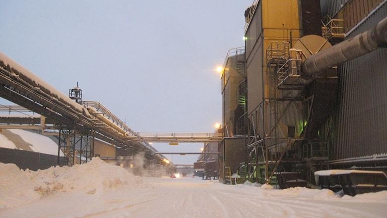 Inne på SSAB:s industriområde i Luleå.