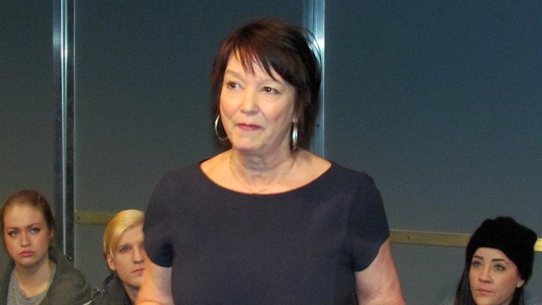 Karin Enberg, chef för Norrbottensteatern. Foto: Carin Sjöblom/ Sveriges Radio.