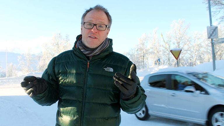 Tony Järlström från näringslivsbolaget Progressum i Kiruna. Foto: Alexander Linder/ Sveriges Radio.