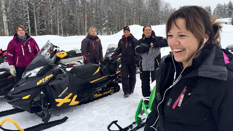 Jenny Engstöm, initiativtagare till den årliga snöskoterutflykten i Gunnarsbyn.