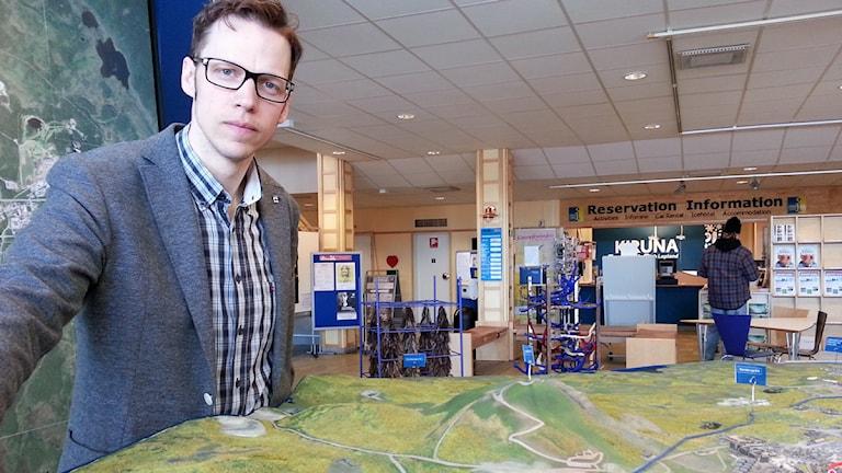 Anders Lindberg, informationschef på LKAB. Foto: Nils Eklund/Sveriges Radio.