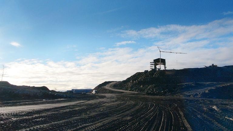Northlands gruvområde i Kaunisvaara. Foto: Pekka Kenttälä/Sveriges Radio.