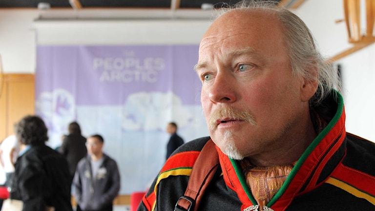Matti Berg från Girjas sameby. Foto: Alexander Linder/ Sveriges Radio.