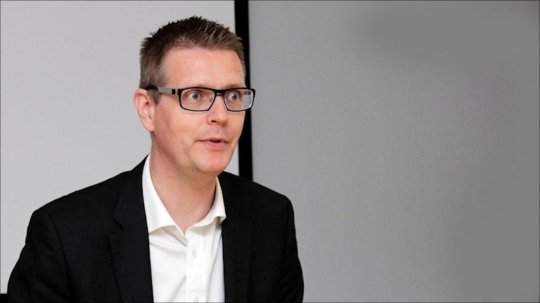 Mattias Karlsson (M). Foto Stig-Arne Nordström, Sveriges Radio.