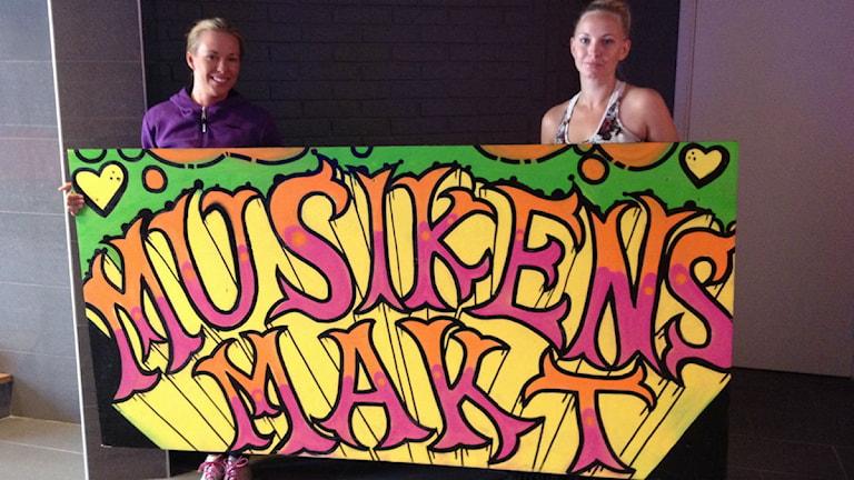 Projektledarna för Musikens Makt Elisabeth Rosenbrand och Lillith Saaw. Foto: Malin Winberg, Sveriges Radio.