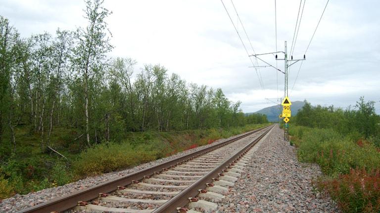 Malmbanan går från Luleå i söder till Narvik i norr. Foto: Lisa Linder Lindberg/Sveriges Radio