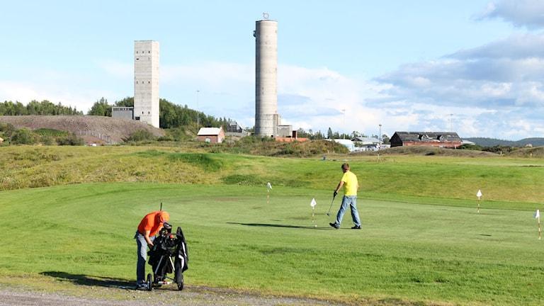 Golf i Kiruna sommartid. Foto: Alexander Linder/ Sveriges Radio.