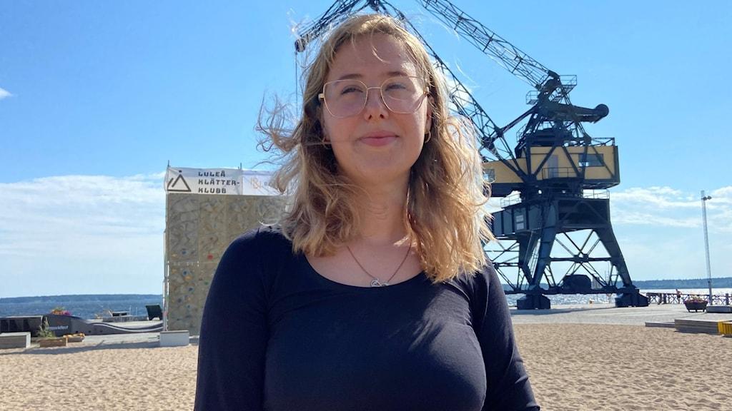Emmy Mörk Lundberg, ung korrespondent i Luleå.