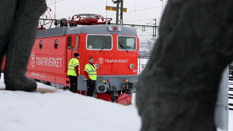 Kapacitetståget på besök i Kiruna.