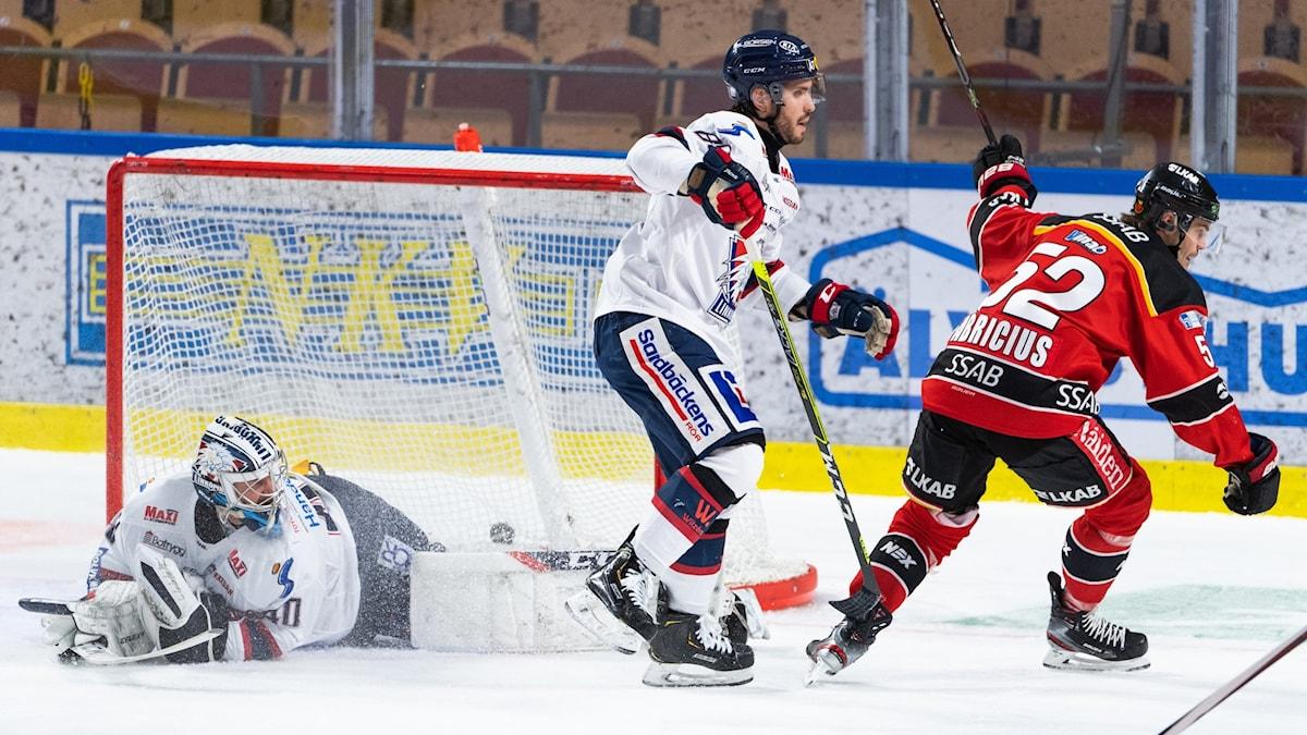 Karl Fabricius gjorde mål i matchen mot Linköping