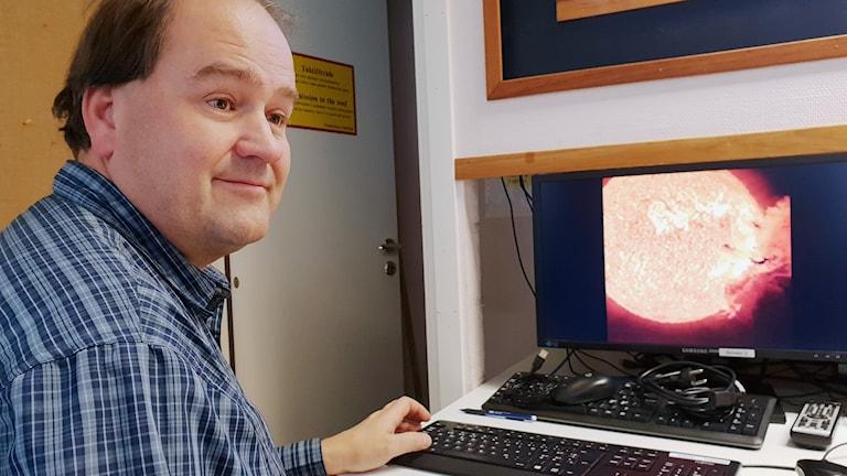 Norrskensforskaren Urban Brändström på IRF i Kiruna.