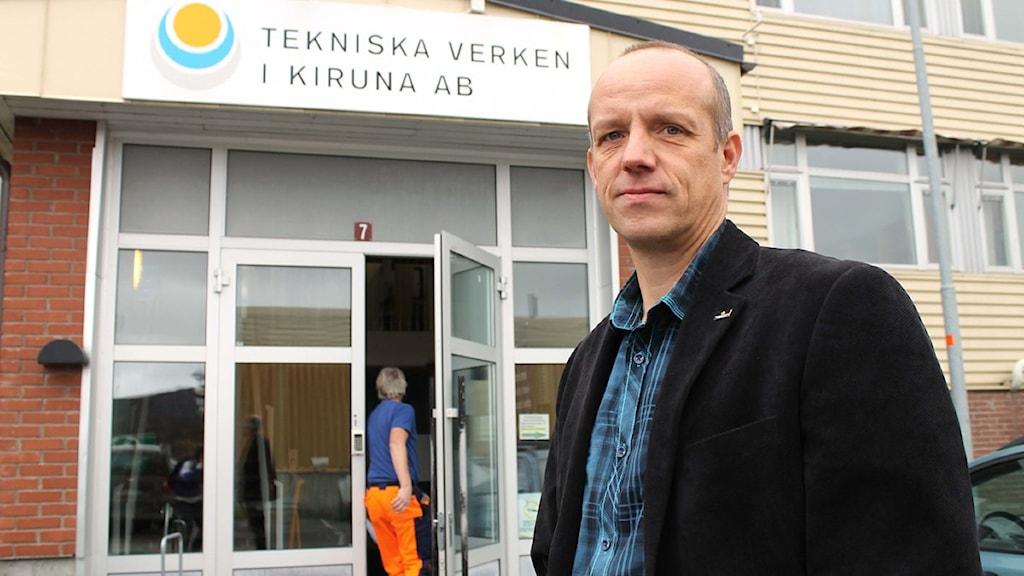 Jan Fjordell, VD i Tekniska verken i Kiruna. Foto: Alexander Linder/ Sveriges Radio.