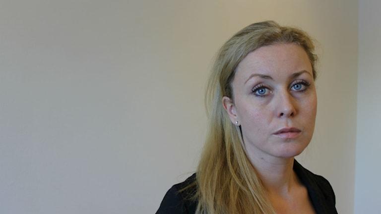 Sara Blix, informationsansvarig SSAB Luleå. Foto: Malin Winberg, Sveriges Radio.