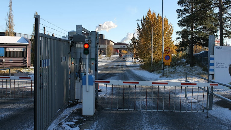 På SSAB i Luleå har det idag hållit flera tysta minuter för männen som dog i arbetsplatsolyckan vid kokverket. Foto: Malin Winberg, Sveriges Radio.