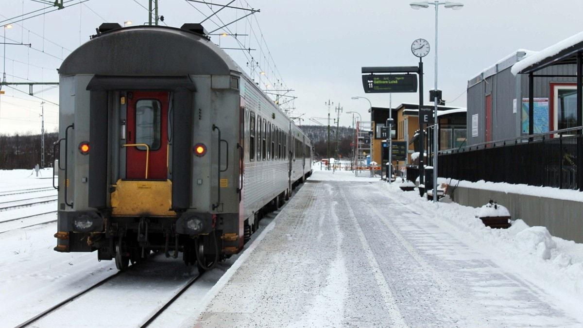 Tågstationen i Kiruna. Foto: Alexander Linder/ Sveriges Radio.