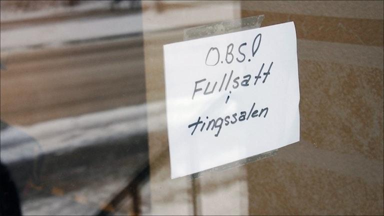 Piteå tingsrätt. Foto: Stig-Arne Nordström/Sveriges Radio.