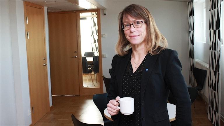 Anette Asplund (KD) gruppledare Luleå. Foto Stig-Arne Nordström/Sveriges Radio