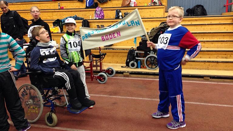Idrottstävling för särskolor i Arcushallen i Luleå. Foto: Emil Östlund/Sveriges Radio.