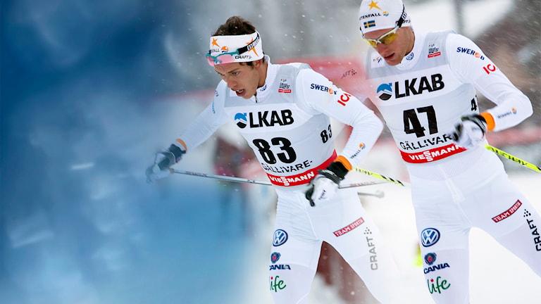 Marcus Hellner och Daniel Richardsson. Fotomontage: Sportevent Gällivare.