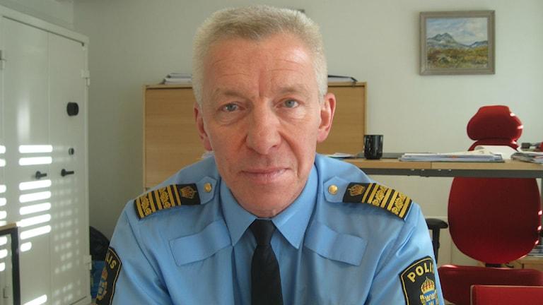 Länspolismästare Håkan Karlsson. Foto: Anders Prammefors/Sveriges Radio.