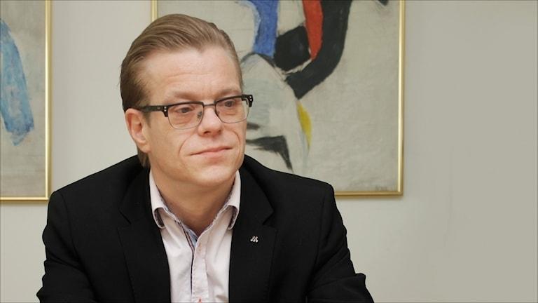 Anders Josefsson (M) gruppledare Luleå. Foto Stig-Arne Nordström/Sveriges Radio.