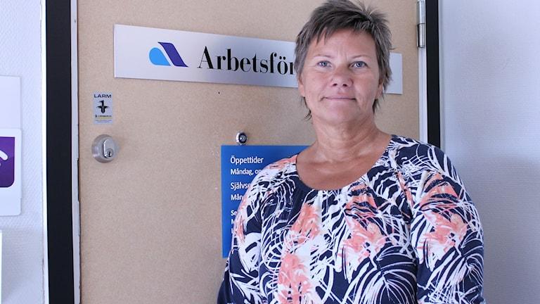 Liz Lindmark i Kiruna är arbetsförmedlare inom Arbetsförmedlingen gruvnäring.