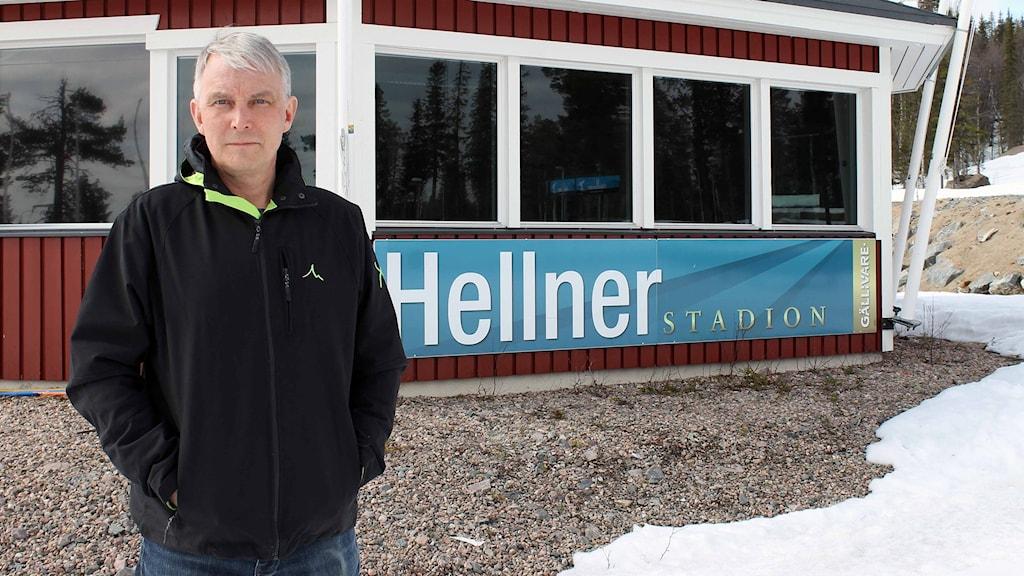 Stefan Nieminen är verksamhetschef i Sportevent Gällivare Lapland. Foto: Alexander Linder/ Sveriges Radio.