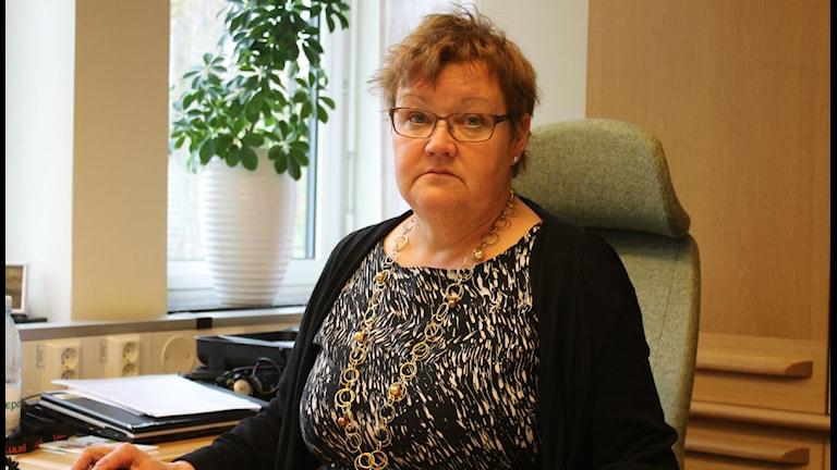 Yvonne Stålnacke socialdemokrat och ordförande i kommunstyrelsen i Luleå/foto:Anders Prammefors/Sveriges Radio