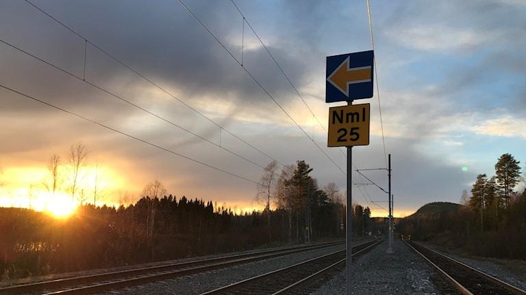 Ny signaltavla i ERTMS-systemet, utan traditionella ljussignaler.