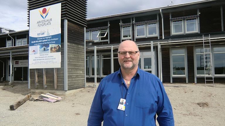 Flygplatschefen i Arvidsjaur Ralf Lundberg. Foto: Beatrice Karlsson/Sveriges Radio.