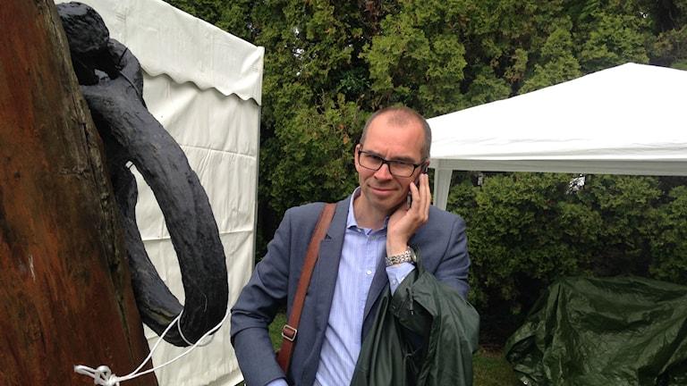 Niklas Nordström i Almedalen. Foto: Anneli Lanner/Sveriges Radio