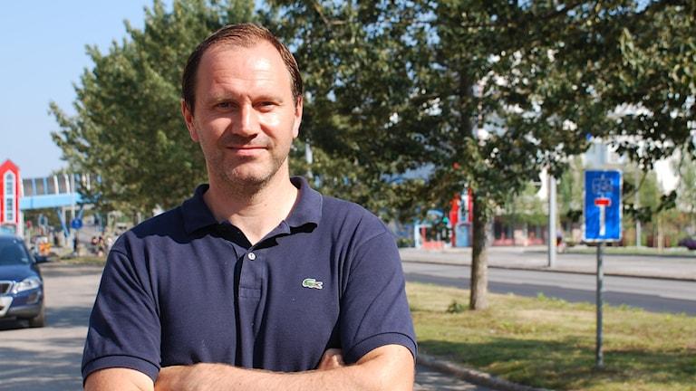 Fotbollsdomaren Jonas Eriksson från Luleå, en månad efter att han dömde VM 2014 i Brasilien.